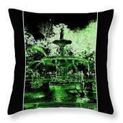 Green Savannah Throw Pillow