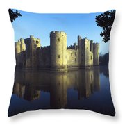 The Majestic Bodiam Castle And Its Throw Pillow