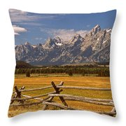 The Majestic Tetons Throw Pillow