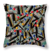 Weekday At The Mall  Throw Pillow
