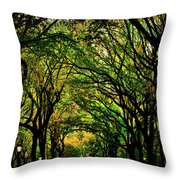 The Mall In Fall Throw Pillow