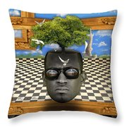 The Man And The Tree  Throw Pillow