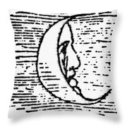 The Man In The Moon Throw Pillow by Granger