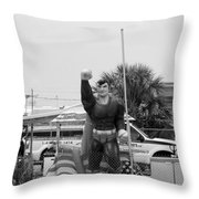 The Man Of Steel On I 95 Throw Pillow
