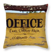 The Manager Throw Pillow