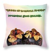 The Mangosteen - Queen Of Tropical Fruits Throw Pillow