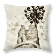 The Market Street Bridge Eagle Throw Pillow