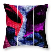The Masks We Hide Behind Tryptic Print Throw Pillow