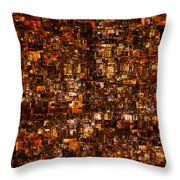 The Masses Of Metropolis Throw Pillow