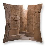 The Massive Columns In The Hypostyle Throw Pillow