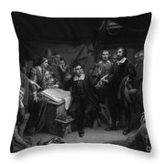 The Mayflower Compact, 1620 Throw Pillow