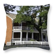 The Mclean House In Appomattox Virgina Throw Pillow