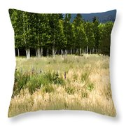 The Meadow Digital Art Throw Pillow