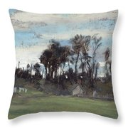 The Meadow Lined With Trees  Throw Pillow