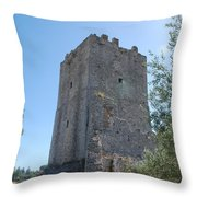 The Medieval Tower Throw Pillow