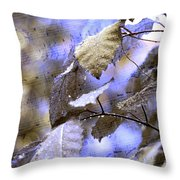 The Melody Of The Silver Rain Throw Pillow
