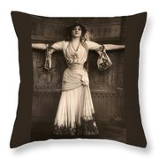 The Merry Widow Throw Pillow
