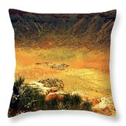 The Meteor Crater In Az 1 Throw Pillow