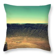 The Meteor Crater In Az 4 Throw Pillow