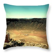 The Meteor Crater In Az Throw Pillow