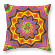 The Mexican Holiday Throw Pillow