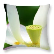 The Middle Of A Lotus Throw Pillow