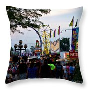 The Midway Lights Up Throw Pillow