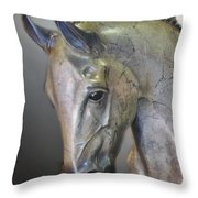 The Mighty Horse Throw Pillow