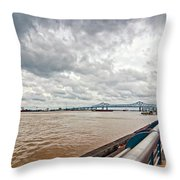 The Mighty Miss Throw Pillow