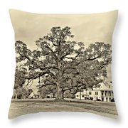 The Mighty One Sepia Throw Pillow