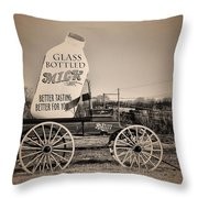 The Milk Wagon Throw Pillow