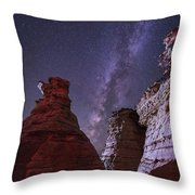 The Milky Way Rises Above The Wedding Throw Pillow