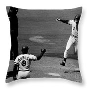 The Million And First Home Run Throw Pillow