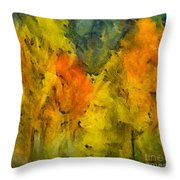 The Mist In The  Autumn Throw Pillow