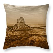 The Mittens At Monument Valley Throw Pillow