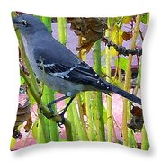 The Mockingbird  Throw Pillow