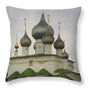 The Monastery Of The Resurrection. Uglich Russia Throw Pillow