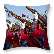 The Mongolian State Honor Guard Throw Pillow