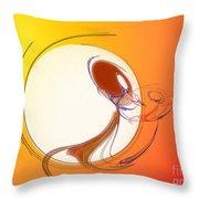 The Monkey On The Moon Throw Pillow