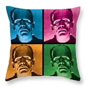 The Monster X 4 Throw Pillow by Gary Grayson