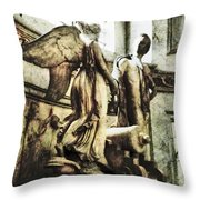 The Monument To Captain Richard Rundle Burges Throw Pillow