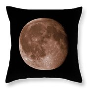 The Moon In Sepia Throw Pillow