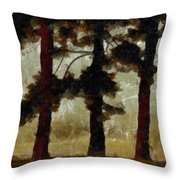 The Morning Stroll Throw Pillow