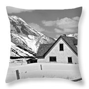 The Moulton House In Winter Throw Pillow