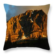 The Mountain Says Good Morning Throw Pillow