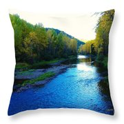 The Moyie River Near Yak B C Throw Pillow