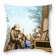 The Mozart Family On Tour 1763 Throw Pillow