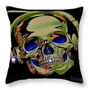 The Music Goes On Forvever Throw Pillow