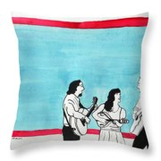 The Music Makers Throw Pillow