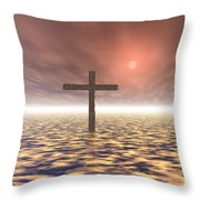 The Mystery Of The Cross Throw Pillow